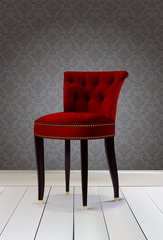 Chair luxury red color