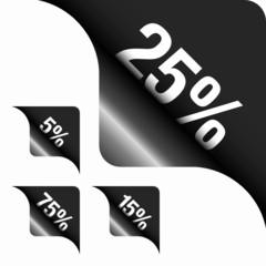 Black Metallic Corner 5%/15%/25%/75%