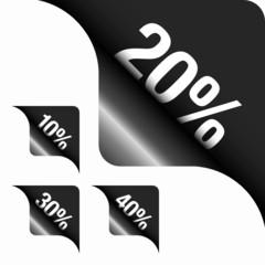 Black Metallic Corner 10%/20%/30%/40%