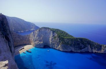 zatoka wraku na wyspie Zakynthos