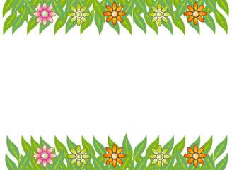 green leaf flower frame