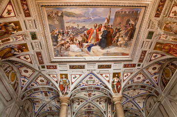 Italian Renaissance fresco on the arched ceiling