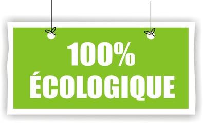 bouton 100% écologique