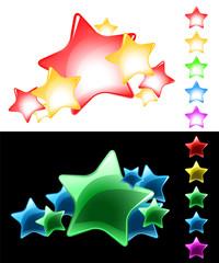 Vector Stars Set / easy use on white or black background / eps8