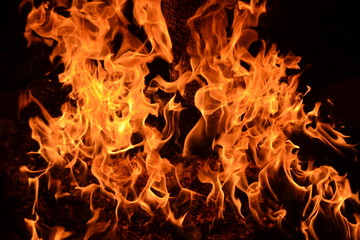 Flames an fire