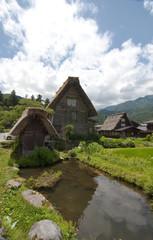 Casa típica de Shirakawago en Japón