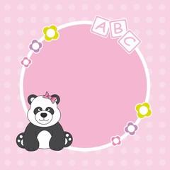 Marco para fotos. oso panda