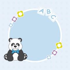 Marco bebe niño. Oso panda