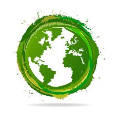 Grunge Globe icon