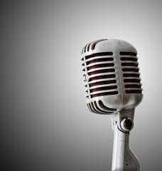 Old Chrome microphone