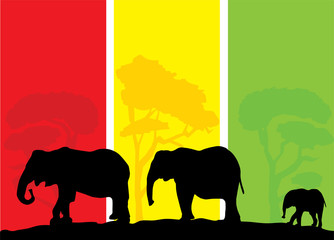 vector elephant background