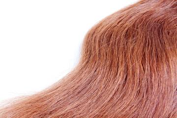 Textura de un pelo rojo