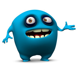 Poster Sweet Monsters blue alien
