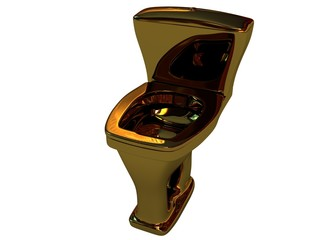 Expensive gold toilet bowl
