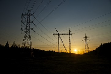 Three power posts