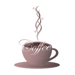 Violet coffee cup