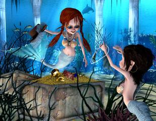 Photo sur Aluminium Mermaid Neptuns Töchter