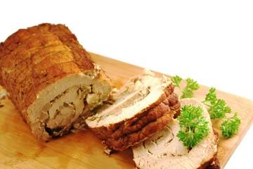 Schweinefleisch Rollbraten gefüllt
