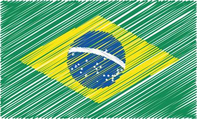 brazilian flag, vector illustration
