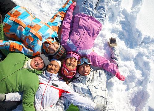 friends in winter