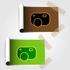 Stickers with symbol of camera
