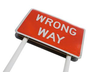 Wrong Way signpost