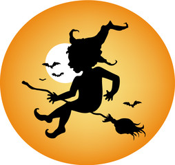 Silhouette of a bat boy - Halloween character