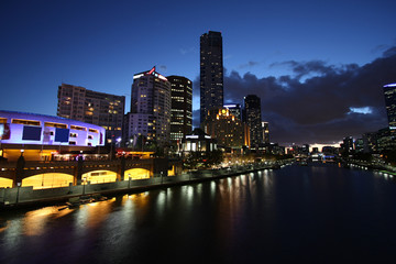 Melbourne city by night - Australia