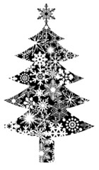Christmas Tree with Snowflakes Pattern