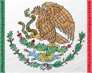 Coat of arms, Mexico. Vector illustration