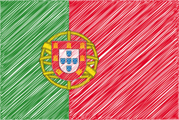 Portugal flag, vector illustration