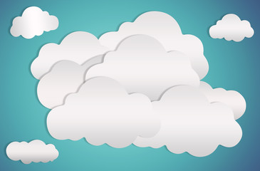 clouds and background blue