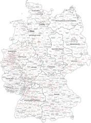 Wall Mural - Deutschland Wahlkreise