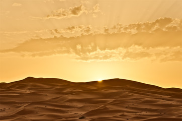 Sunrise over Merzouga, Morocco