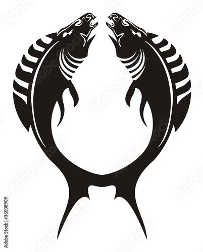 quotfish logo the fisheshorses forming a circlequot stock