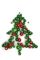 Weihnachtsbaum aus Christbaumkugeln