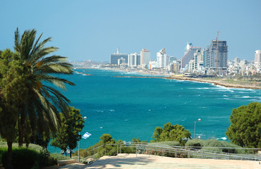 View of Tel-Aviv sea coast from Jaffa