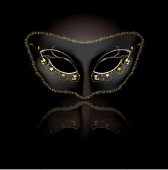 Venetian mask with black background