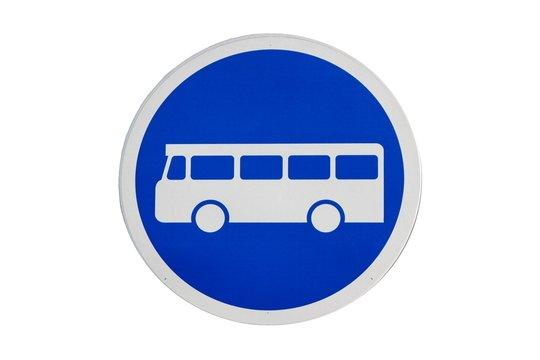 Panneau voie obligatoire pour les bus