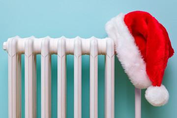 Santa hat on a radiator
