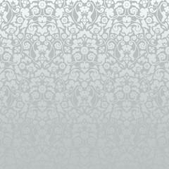 Seamless Damask Pattern Silver