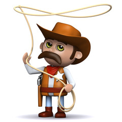 Garden Poster Wild West 3d Sheriff is highly skilled with the lasso