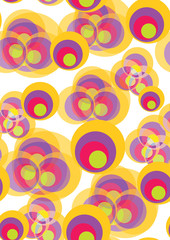 Seamless pattern with twisted circles