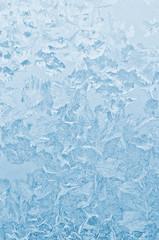 Frozen glass winter background