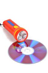 DVD and flashlight