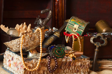 Treasure chests with jewellery