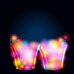 Glittering glasses
