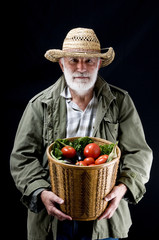 farmer man in studio
