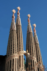 Sagrada Familia, cathedral designed by Gaudi, Barcelona, Spain