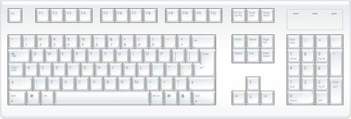 Keyboard. Top veiw.